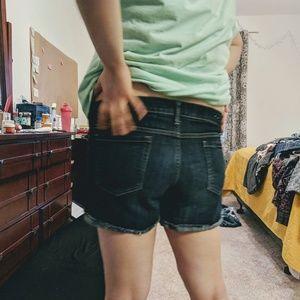 Mossimo Mid-Rise Jean Shorts (Dark Wash)